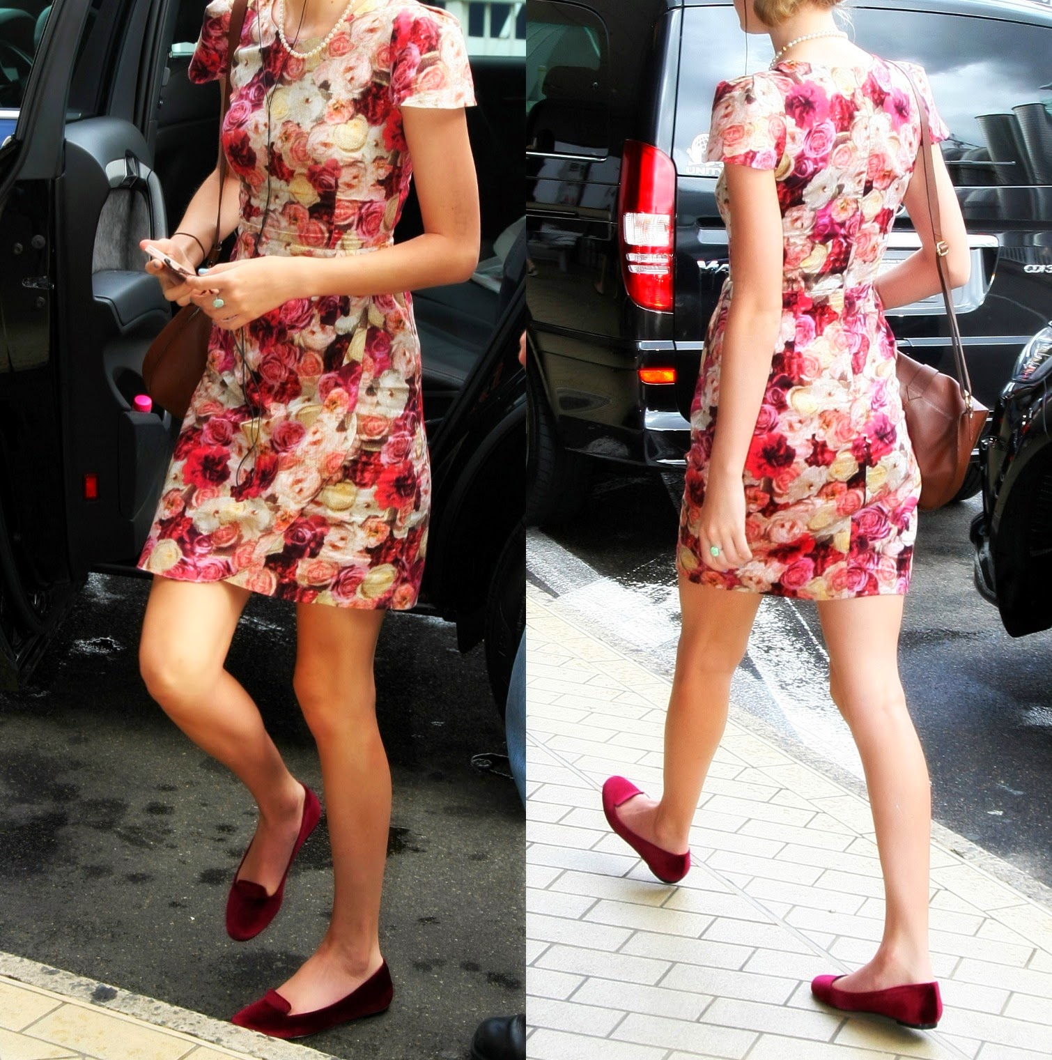 steal that style taylor swift floral dress loafers