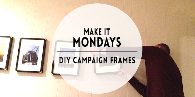ikea ribba campaign inspired picture frames DIY