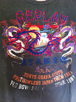 Vintage REPLAY t-shirt-japan tour 1981.
