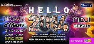 Acara Tahun Baru 2014 Di Trans Studio Bandung