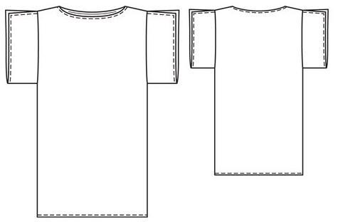 Mujeres y alfileres: Molde de vestido corto o remeron