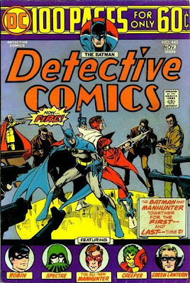 Detective Comics #443, Batman meets Manhunter, Jim Aparo cover, 100 pages