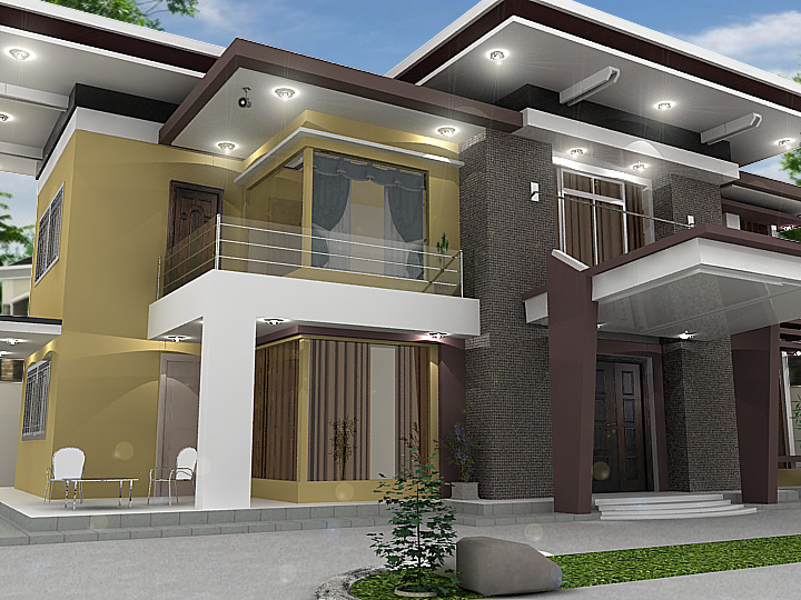 Modern house model sketchup