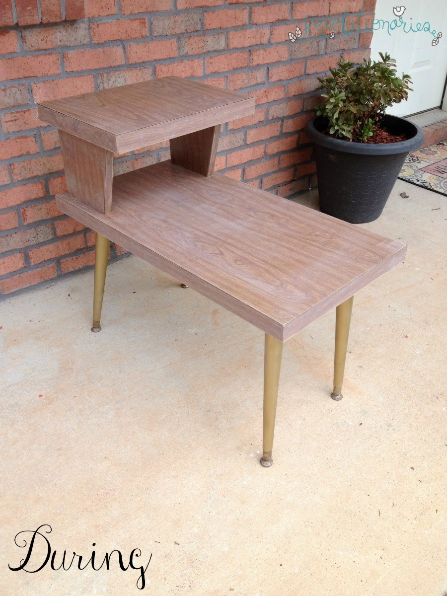Before and After: The Retro Side Tables with General Finishes Milk Paint!