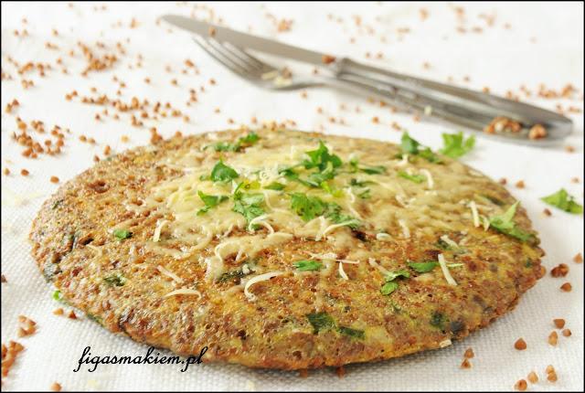 omlet z kaszą gryczaną