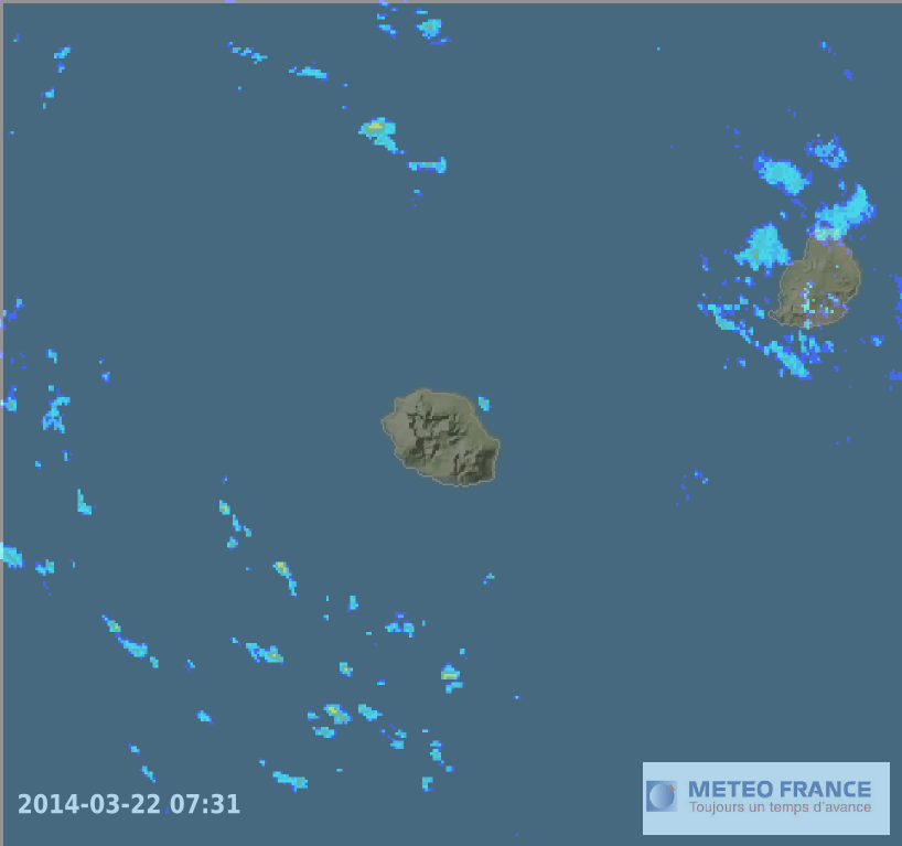 image radar meteo reunion et maurice