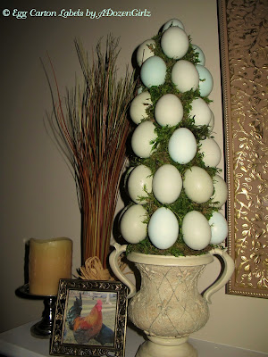Blown egg topiary DIY instructions