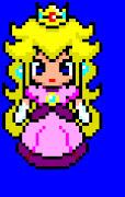E aqui esta a pixel art da princesa peach q eu disse que faria: