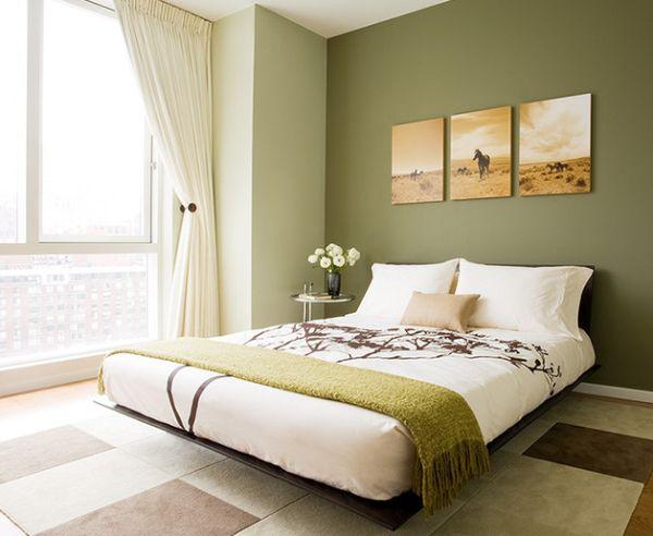 Dormitorios con paredes verdes dormitorios con estilo - Paredes en verde ...