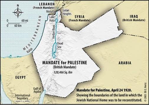 Wilayah Palestina yang dijanjikan Inggris pada Yahudi