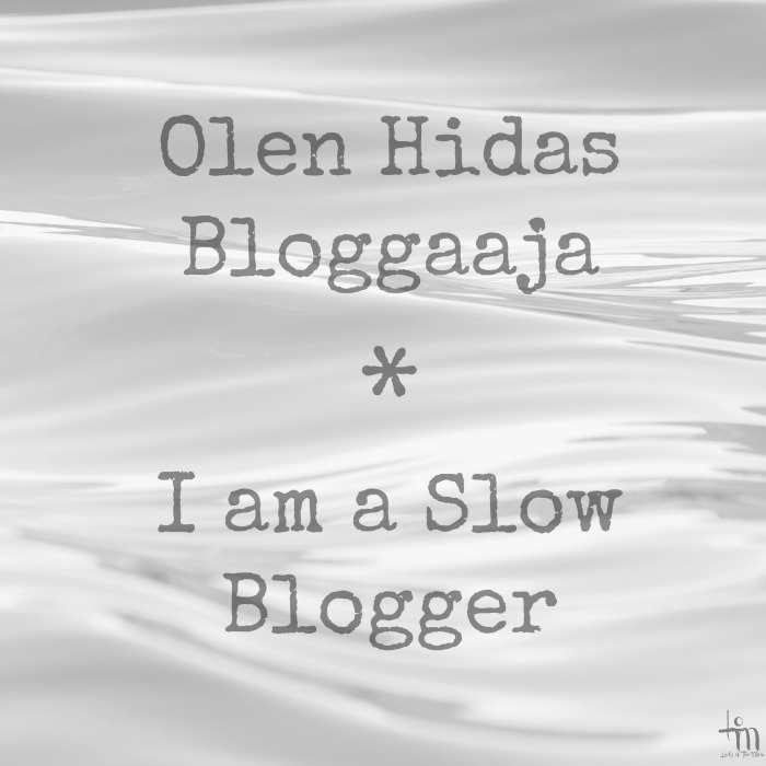 Olen hidas Bloggaaja