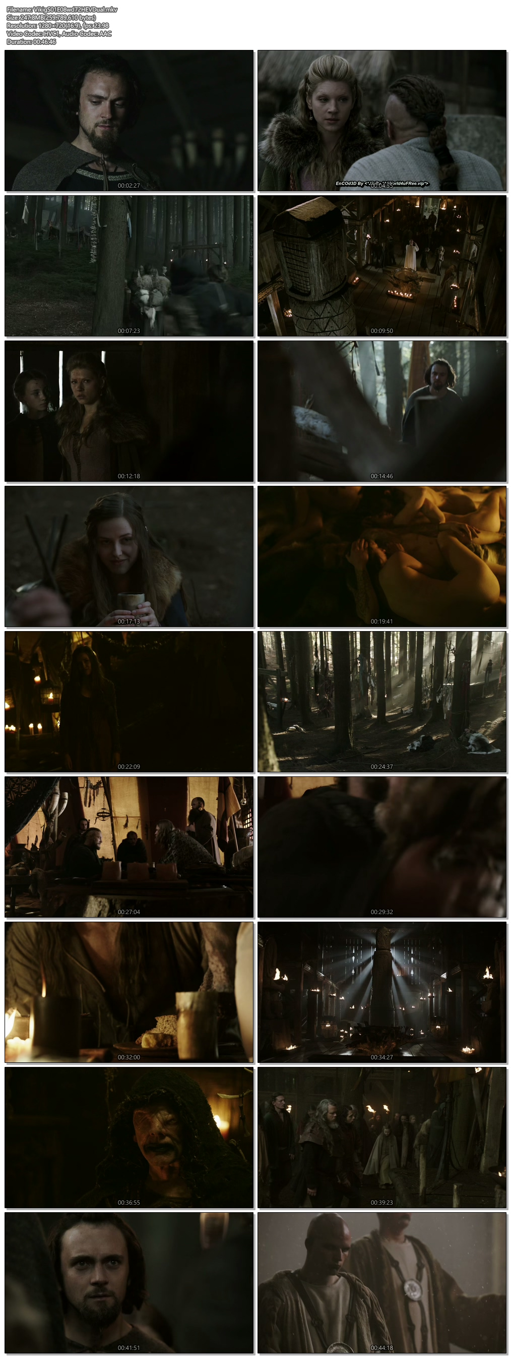 Screenshots Of Hindi Dubbed Show Vikings 2013 Season 01 Episode 08 300MB 720P HD