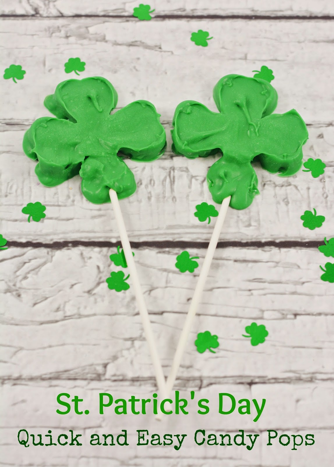 Easy St. Patrick's Day Candy Pops that you can make in minutes! #DIY #recipe
