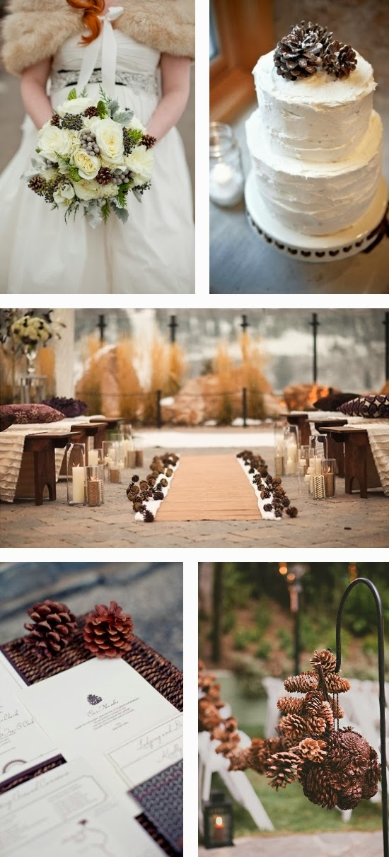 Pine Cone Wedding Inspiration Board