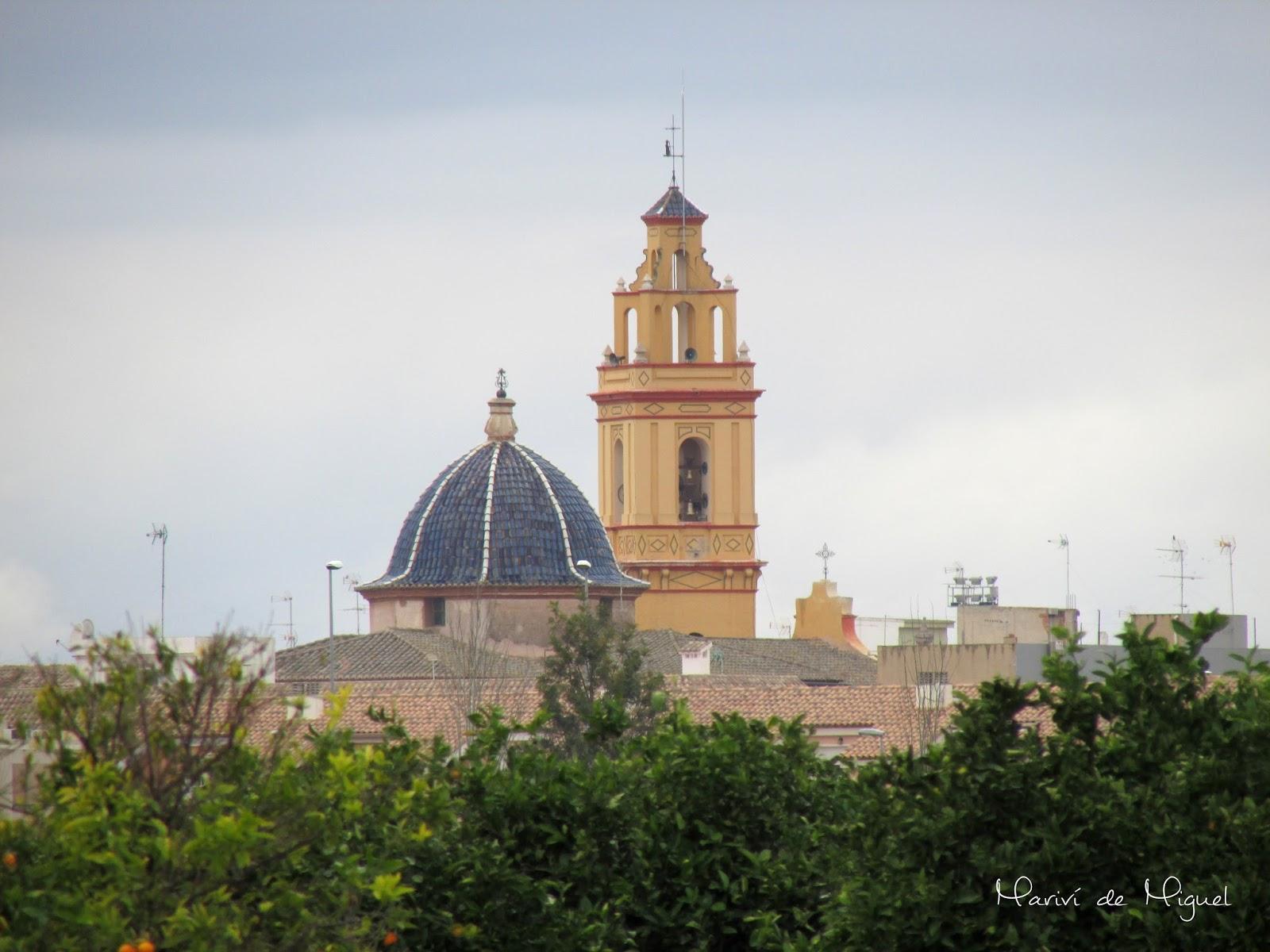 Campanario de Albalat dels Sorells desde Mahuella