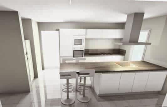 Hotte cuisine ilot central des cuisines haut de gamme trs - Ilot central avec evier et plaque de cuisson ...