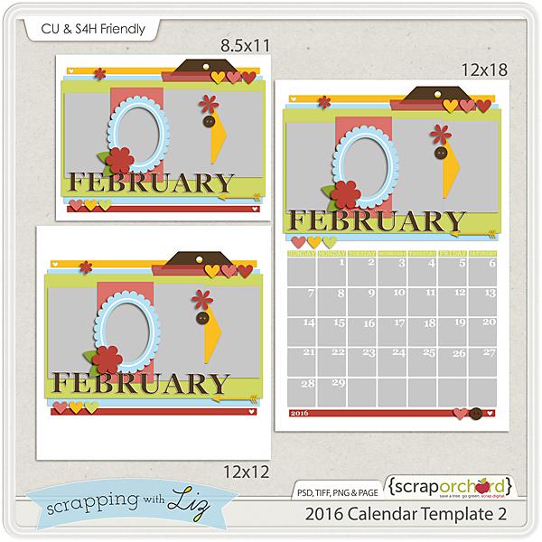 http://scraporchard.com/market/2016-Calendar-2-Digital-Scrapbook-Template.html