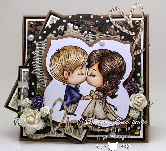 28 juillet -Cartes de la semaine sur mon blogue Stephanie_Cake+Topper+Kiss