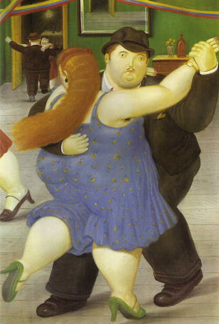the dancers,Botero,cute painting