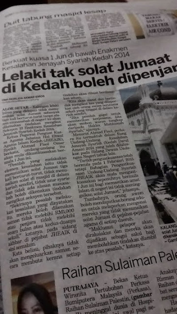 Denda, Penjara Jika Tidak Solat Jumaat Di Kedah