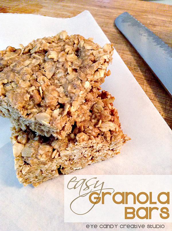 easy granola bars, granola bar recipe, peanut butter, perfect snack idea