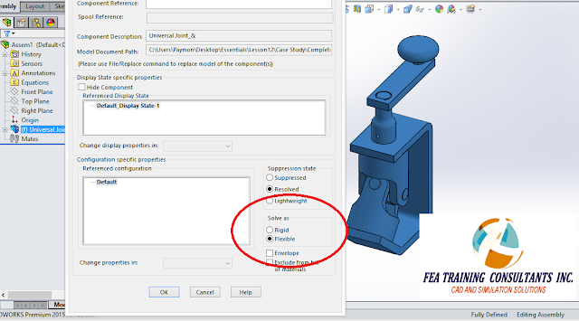 flexible assembly solidworks