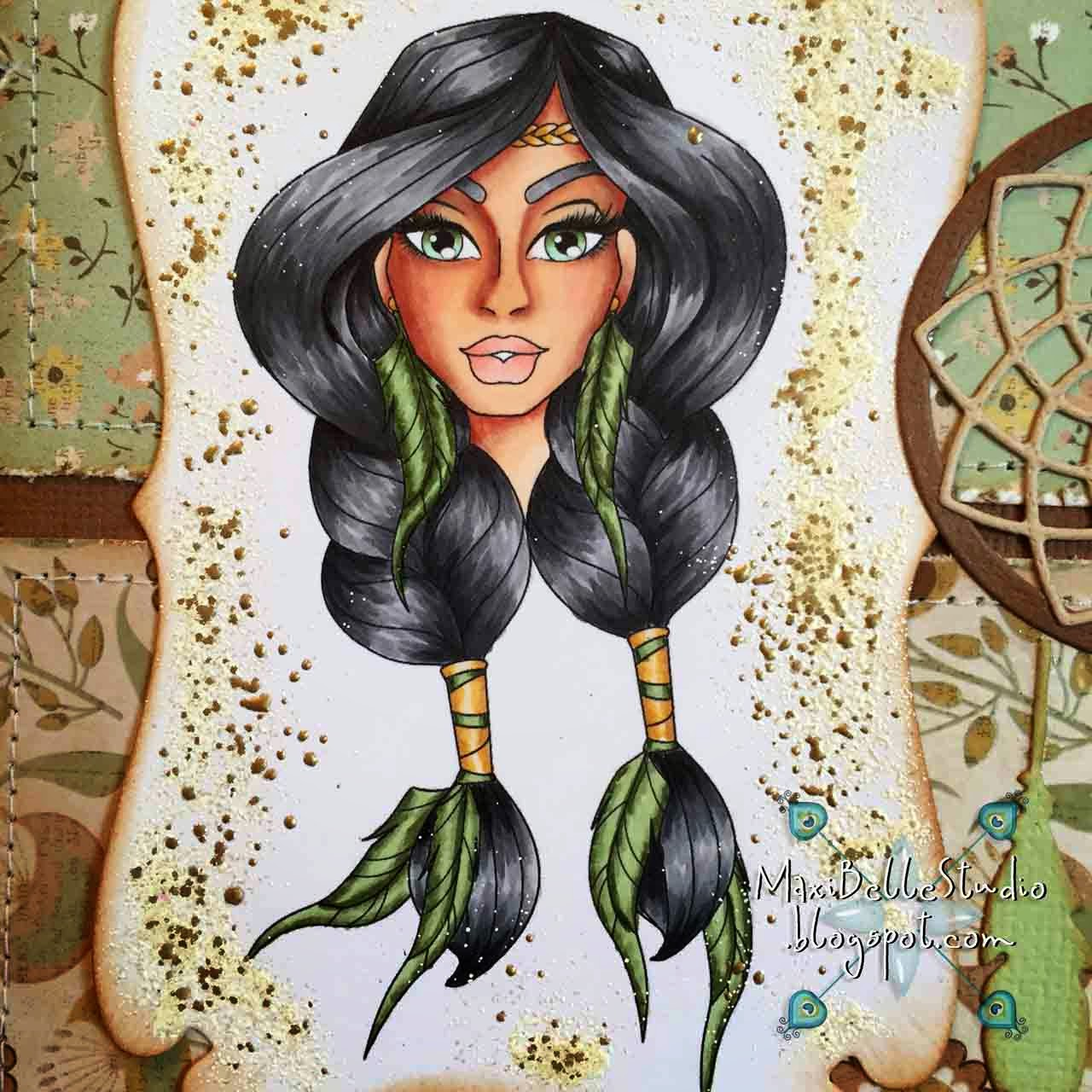 Sassy Studio Designs Princess Feathers Portrait