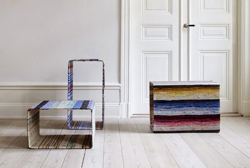 Muebles con Alfombras de Trapo, Tela Reciclada