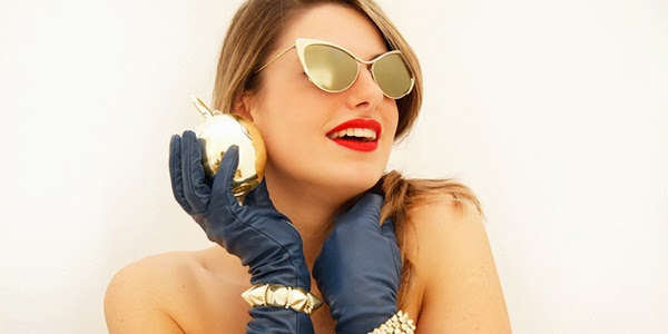 Gold Cat Eye Sunglasses 2014