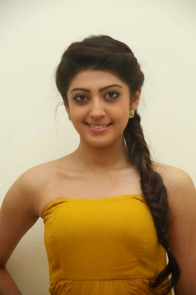 Actress Pranitha In Braided Hairstyle