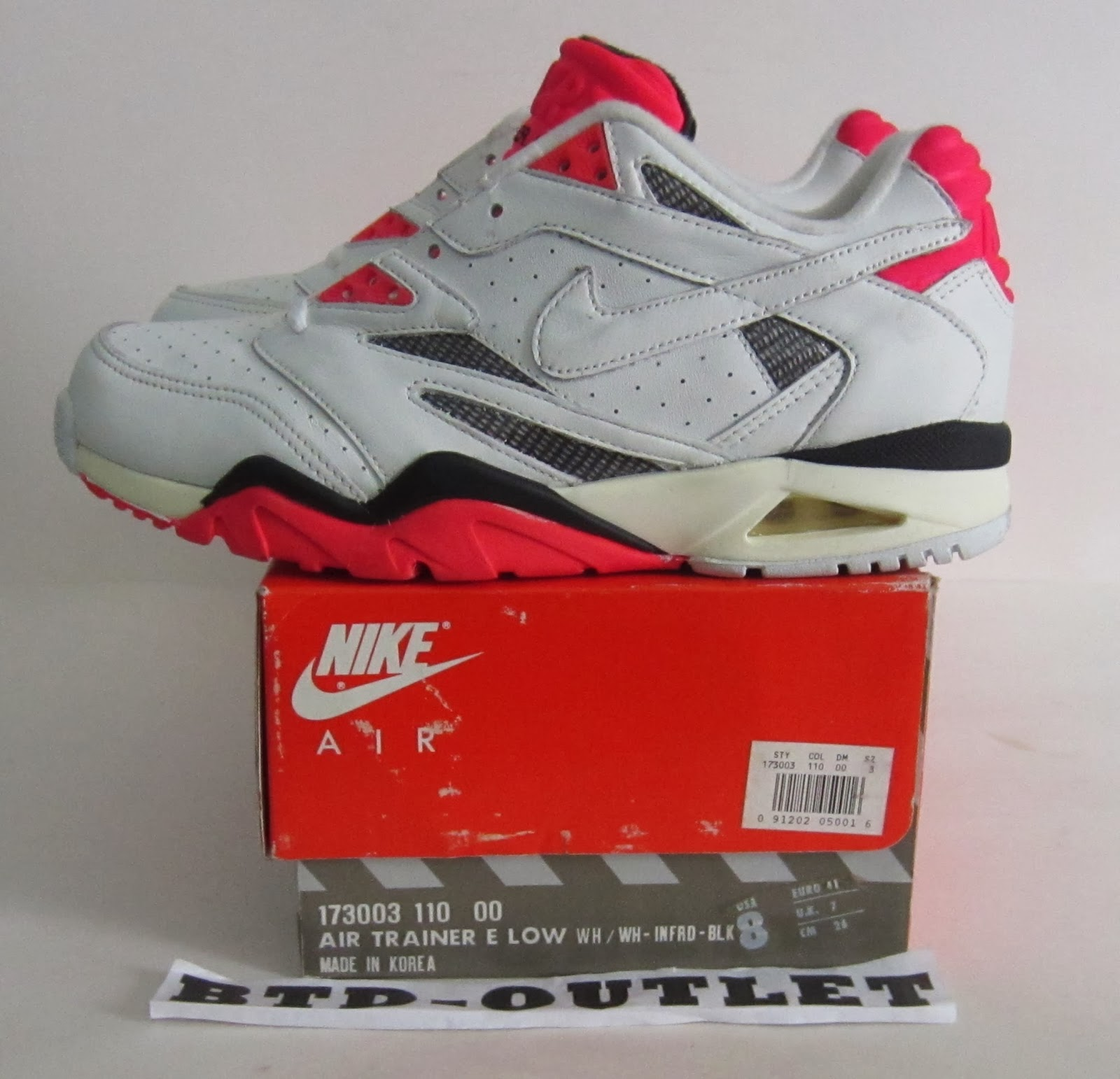 sneakers for cheap d9cb7 40a0f Vintage 1991 Nike Air Trainer E Low US 8 euro 41 OG BOX never worn deadstock
