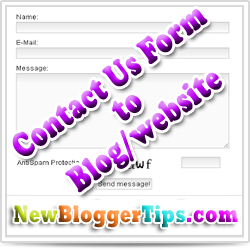 How to Add a Contact Us Form Widget to Blogger