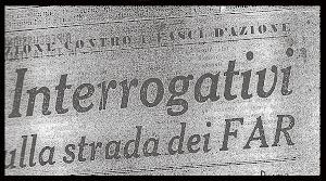 FASCI D' AZIONE RIVOLUZIONARIA (FAR)