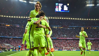FC Barcelona goes through to the next round by winning 5-3 on aggregate