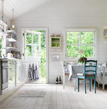 Swedish Summer House Kitchen