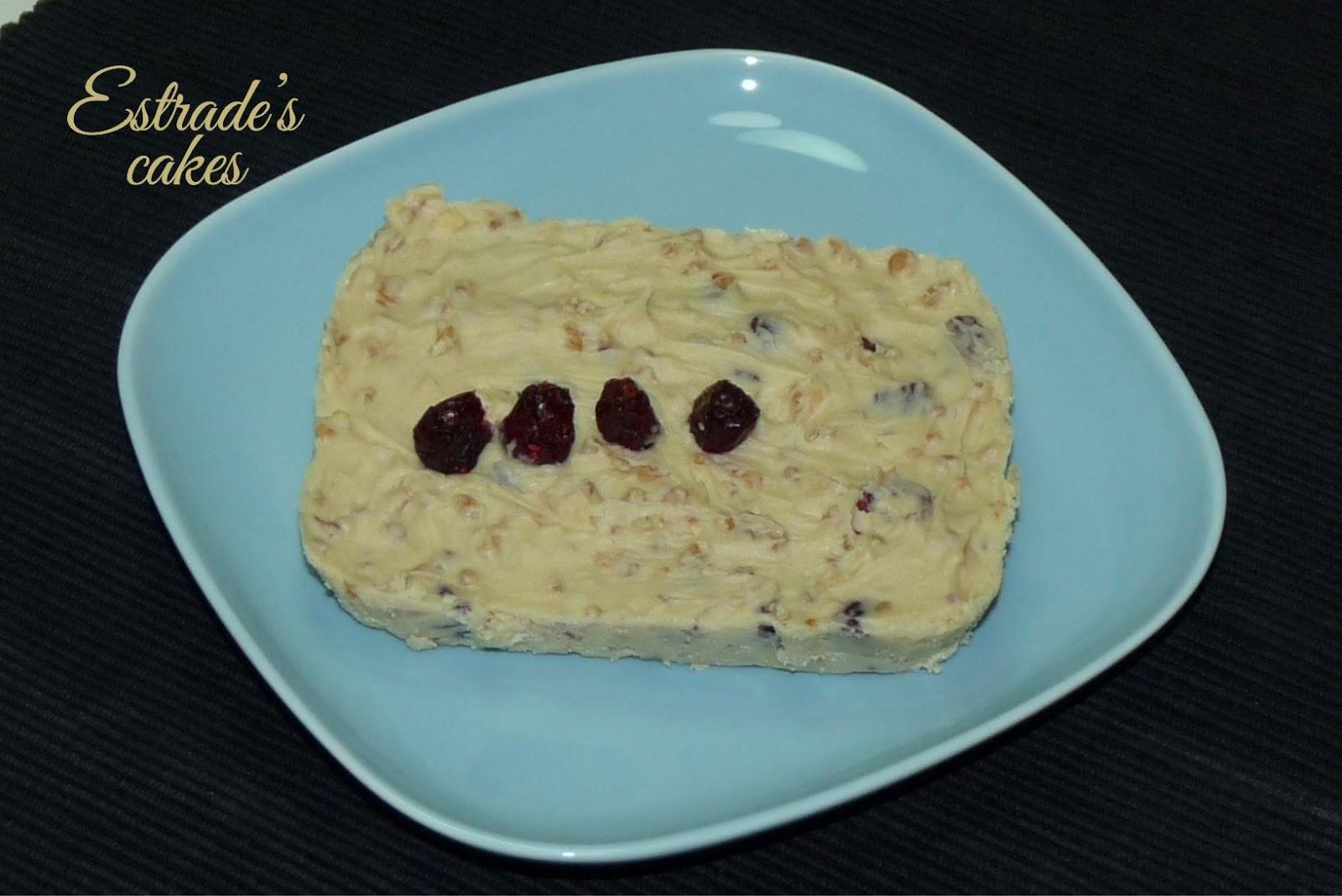 receta de turrón de chocolate blanco y arándanos - 3