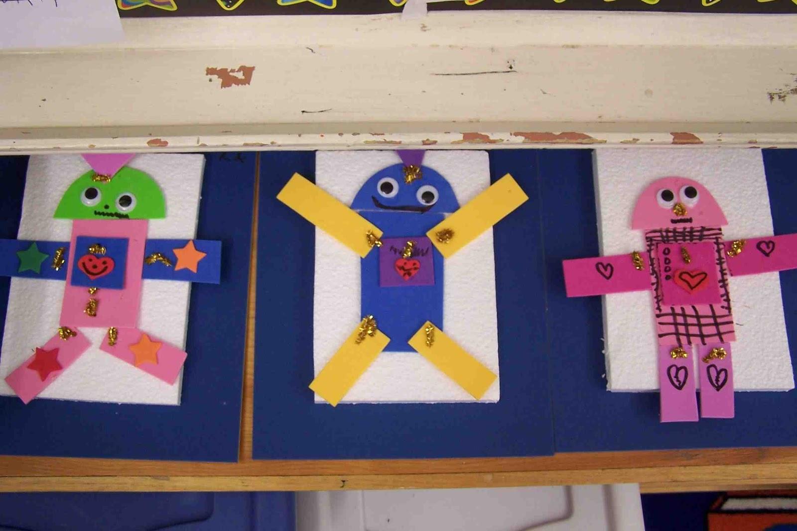 Kindergarten 2D Shape Robots
