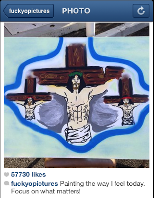Chris Brown Quits Instagram After Comparing Himself To Jesus On The Cross (PHOTOS)