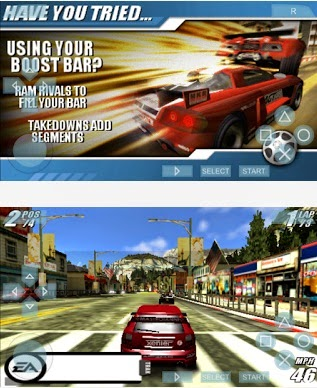 download Game PPSSPP Burnout Legends untuk Emulator PSP HP Android
