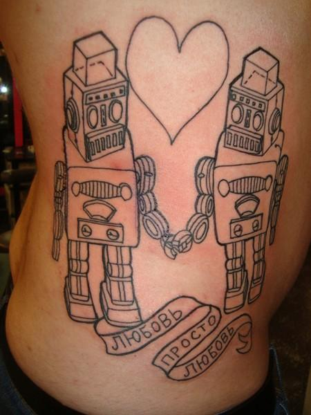 l >#tattoofriday   Robot
