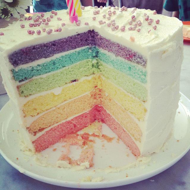 Build House Home Rainbow Layer Cake Secrets
