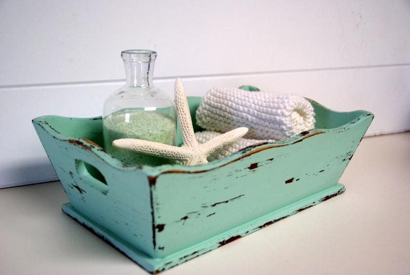 the speckled dog beachy bath tray, Home decor