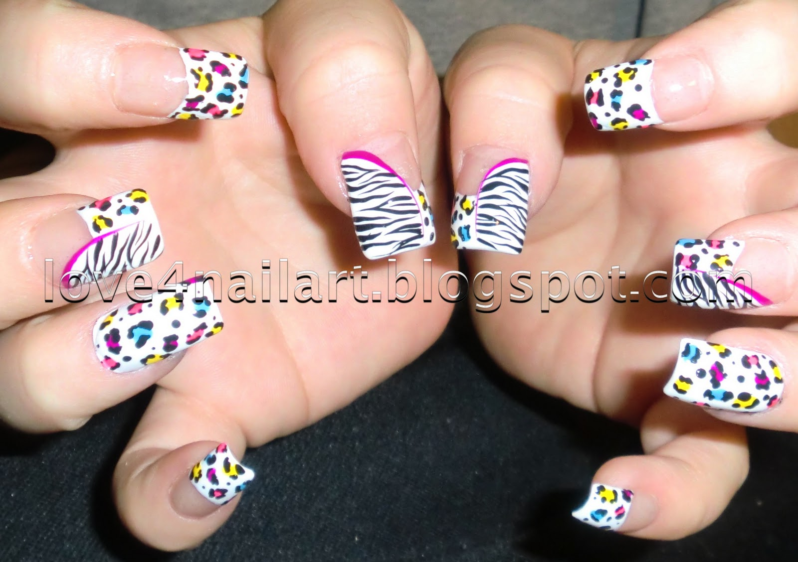 Love4nailart step by step neon leopardzebra nail art step by step neon leopardzebra nail art prinsesfo Image collections
