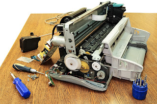 printer parts disassembled