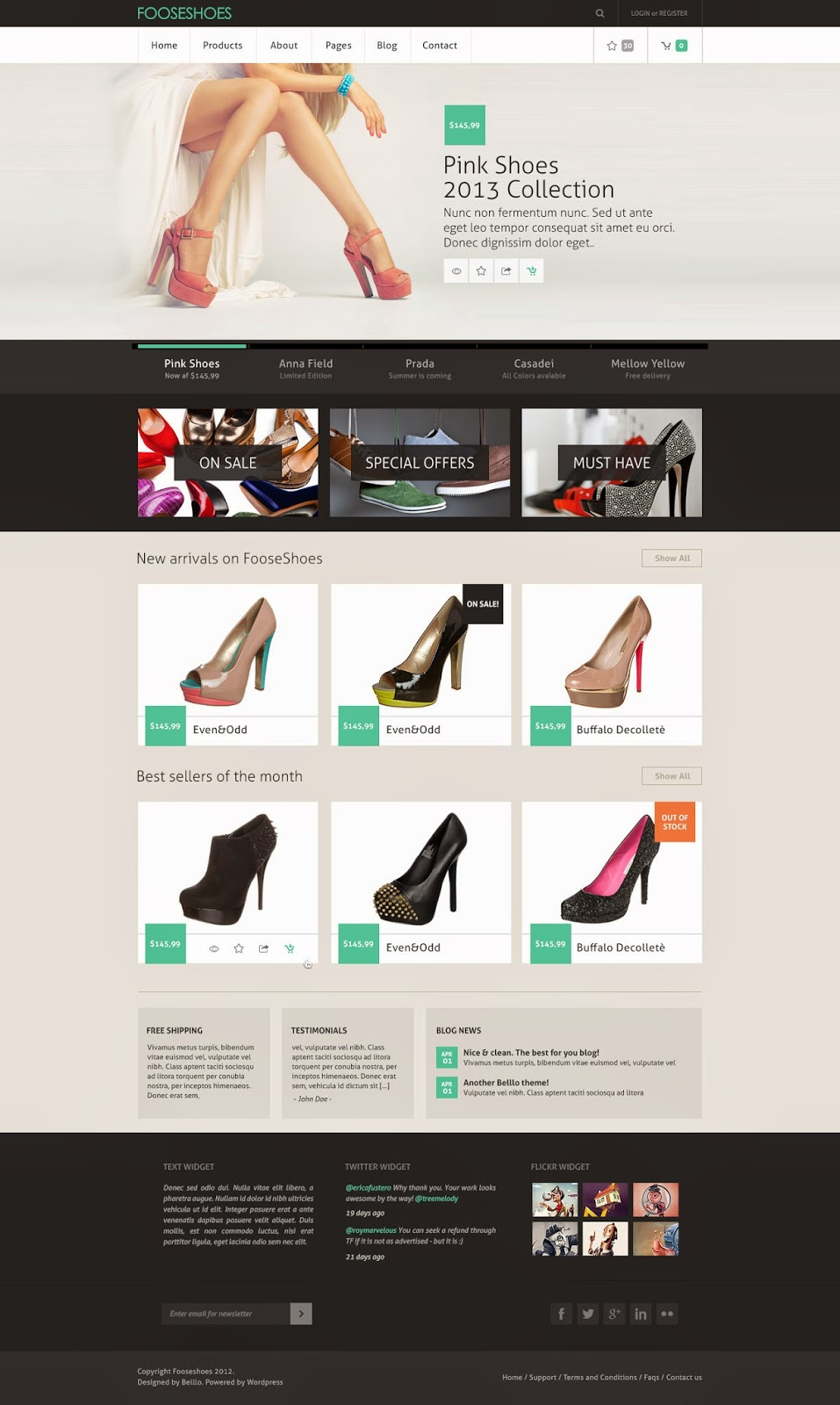 Fooseshoes ECommerce PSD Template