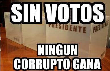 No votes a corruptos