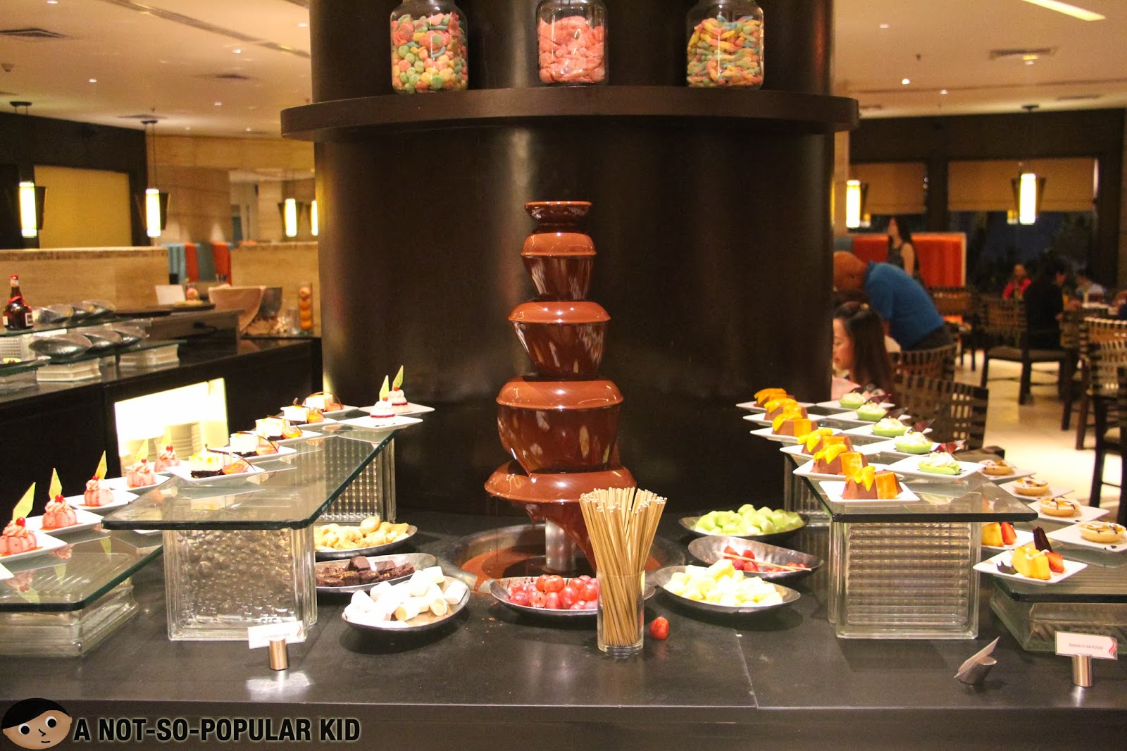 Basix Dusit - Chocolate Fondue at the center of the Desserts Station