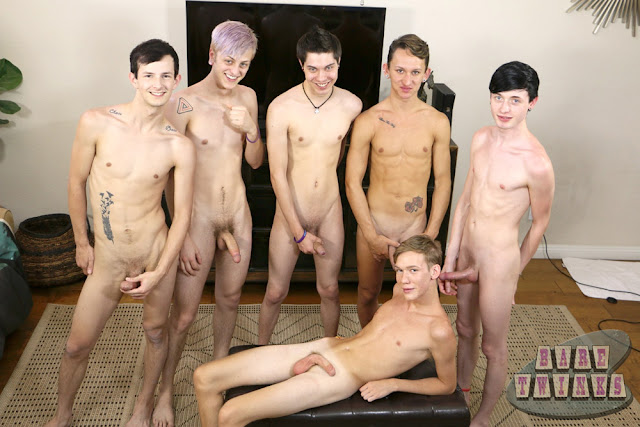 Gay Twink Bareback Orgy- click