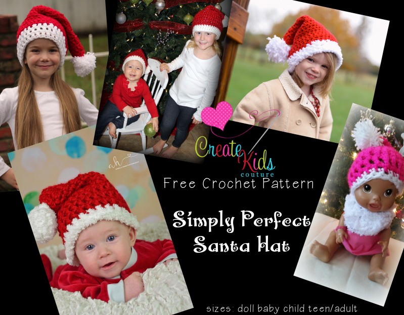 Create Kids Couture: Simply Perfect Crochet Santa Hat