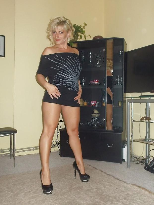 Skirts milf high heels and mini